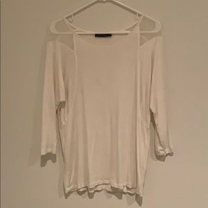 The Limited ivory 3/4 sleeve top.